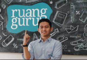 Pendiri dan CEO Ruang Guru, Adamas Belva Syah Devara