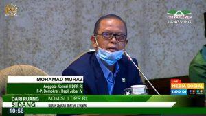 Anggota Komisi II DPR Fraksi Demokrat Mohamad Muraz